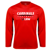 Performance Red Longsleeve Shirt-Football Field