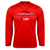 Syntrel Performance Red Longsleeve Shirt-Baseball