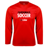 Syntrel Performance Red Longsleeve Shirt-Soccer