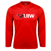Performance Red Longsleeve Shirt-Cardinal Head UIW