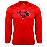 Performance Red Longsleeve Shirt-Cardinal Head