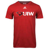 Adidas Climalite Red Ultimate Performance Tee-Cardinal Head UIW