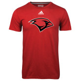 Adidas Climalite Red Ultimate Performance Tee-Cardinal Head