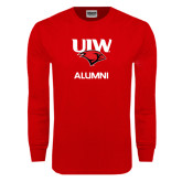 Red Long Sleeve T Shirt-Alumni