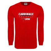 Red Long Sleeve T Shirt-Football Field
