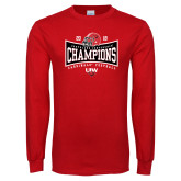 Red Long Sleeve T Shirt-2018 Southland Football Champions