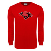 Red Long Sleeve T Shirt-Cardinal Head