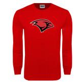 Red Long Sleeve T Shirt-Cardinal Head