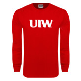 Red Long Sleeve T Shirt-UIW
