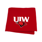 Red Sweatshirt Blanket-UIW Cardinal Head Stacked