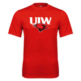 Performance Red Tee-UIW Cardinal Head Stacked