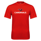 Performance Red Tee-Cardinals w/ Cardinal Head