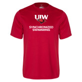 Performance Red Tee-Synchronized Swimming