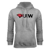 Grey Fleece Hoodie-Cardinal Head UIW