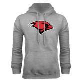 Grey Fleece Hood-Cardinal Head