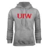 Grey Fleece Hoodie-UIW