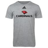 Adidas Sport Grey Logo T Shirt-Cardinals w/ Cardinal Head