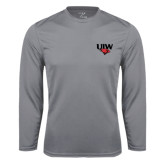 Syntrel Performance Steel Longsleeve Shirt-UIW Cardinal Head Stacked