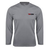 Syntrel Performance Steel Longsleeve Shirt-Cardinal Head UIW