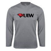 Performance Steel Longsleeve Shirt-Cardinal Head UIW