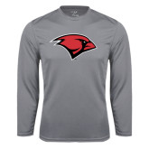 Performance Steel Longsleeve Shirt-Cardinal Head
