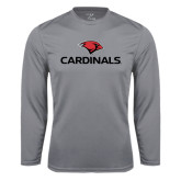 Performance Steel Longsleeve Shirt-Cardinals w/ Cardinal Head
