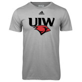 Adidas Climalite Sport Grey Ultimate Performance Tee-UIW Cardinal Head Stacked