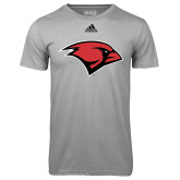 Adidas Climalite Sport Grey Ultimate Performance Tee-Cardinal Head