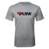 Grey T Shirt-Cardinal Head UIW