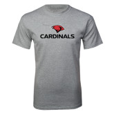 Grey T Shirt-Cardinals w/ Cardinal Head