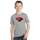 Youth Grey T-Shirt-Cardinal Head