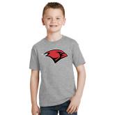 Youth Grey T-Shirt-Cardinal Head