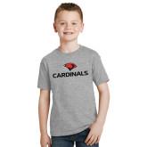 Youth Grey T-Shirt-Cardinals w/ Cardinal Head
