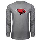 Grey Long Sleeve T Shirt-Cardinal Head