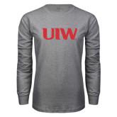 Grey Long Sleeve T Shirt-UIW