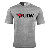 Performance Grey Heather Contender Tee-Cardinal Head UIW