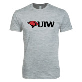 Next Level SoftStyle Heather Grey T Shirt-Cardinal Head UIW