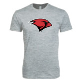 Next Level SoftStyle Heather Grey T Shirt-Cardinal Head