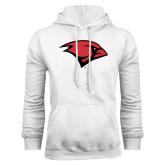 White Fleece Hood-Cardinal Head
