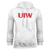 White Fleece Hoodie-UIW