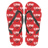 Full Color Flip Flops-UIW Cardinal Head Stacked