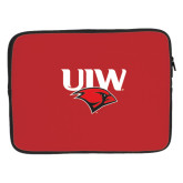 15 inch Neoprene Laptop Sleeve-UIW Cardinal Head Stacked
