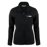 Ladies Black Softshell Jacket-Cardinal Head UIW