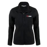 Ladies Black Softshell Jacket-Cardinal Head UIW