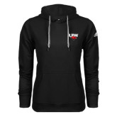 Adidas Climawarm Black Team Issue Hoodie-UIW Cardinal Head Stacked