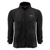 Fleece Full Zip Black Jacket-Cardinal Head