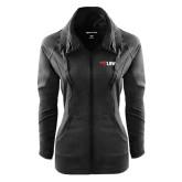 Ladies Sport Wick Stretch Full Zip Black Jacket-Cardinal Head UIW