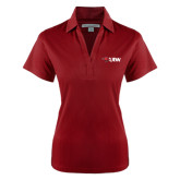 Ladies Red Performance Fine Jacquard Polo-Cardinal Head UIW