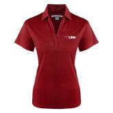 Ladies Red Performance Fine Jacquard Polo-Cardinal Head UIW