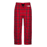 Red/Black Flannel Pajama Pant-Cardinal Head UIW